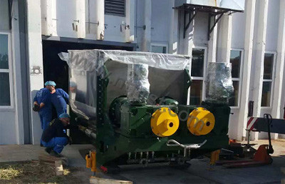7000L kneader exported to European unloading site